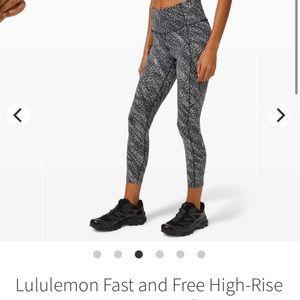 "LIKE NEW Lululemon Fast & Free High-Rise Crop 23"" - Sz 6"